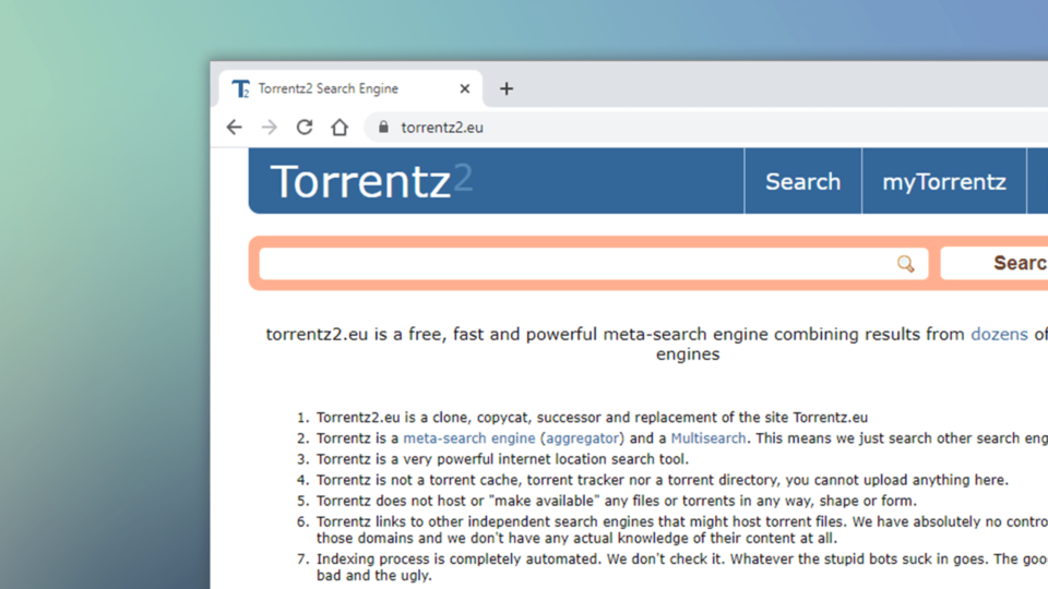 Torrentz2 Search Engine New